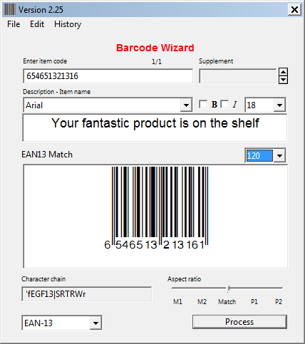 Windows barcode font and Barcode Wizard